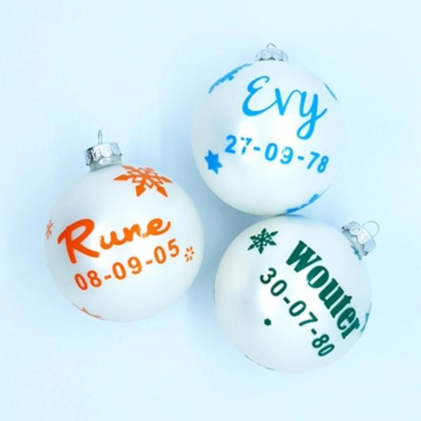 Gepersonaliseerde kerstbal